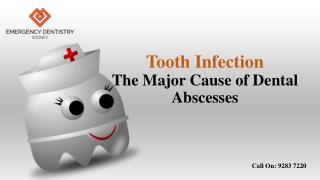 Tooth Infection- The Major Cause of Dental Abscesses