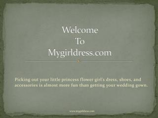 Beautiful Flower Girl Dresses - Mygirldress.com