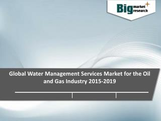 Global Water Management Services Market 2015-2019
