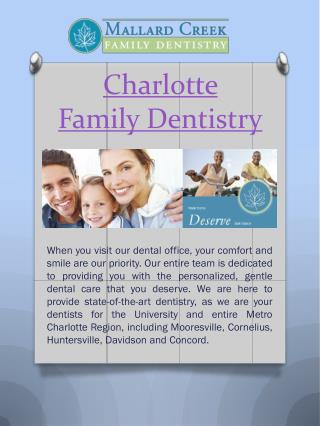 Charlotte Cosmetic Dentist