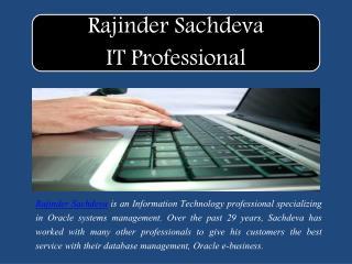 Rajinder Sachdeva IT Professional