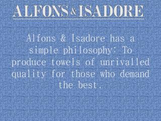luxury shower towels - Alfons & Isadore