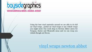 Vinyl wraps in exeter and newton abbot