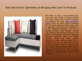 Toronto Upholstery