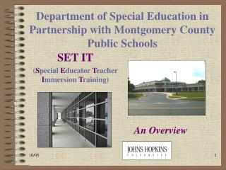Department of Special Education in Partnership with Montgomery County Public Schools