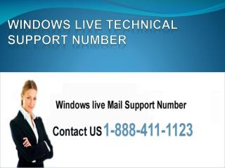 Windows live support number @ 1 888 411 1123