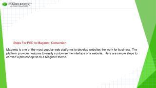 PSD to Magento Conversion