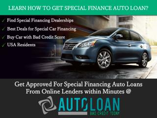 Special Finance Car Loans Deals