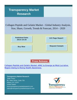Collagen Peptide and Gelatin Market