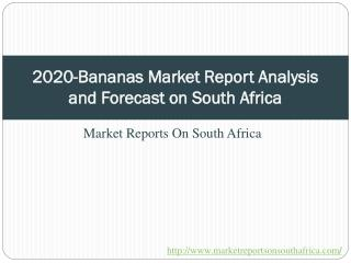 2020-Bananas Market Report Analysis and Forecast on South Af