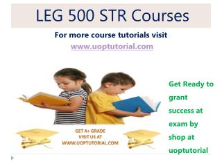 LEG 500 STR Tutorial / Uoptutorial