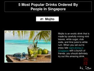 5 most popular drinks ordered by people in Singapore