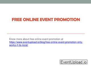 Free Online Event Marketing - Eventupload.io