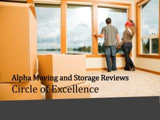 Alpha Moving and Storage Reviews - Circle of Excellence