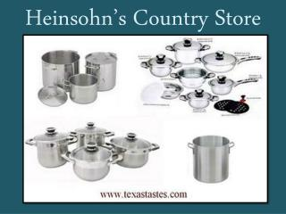 High quality cookware available at Texastastes.com