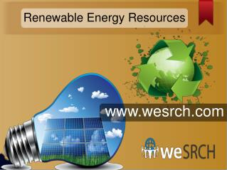 Main Form of Renewable Energy Resources