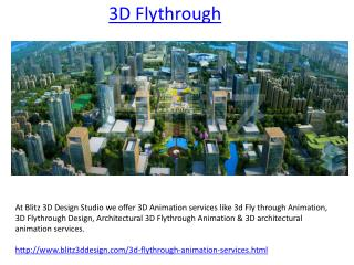 3d Flythrough Animation Services Provide Studio