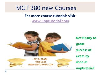 MGT 380 NEW Tutorial / Uoptutorial