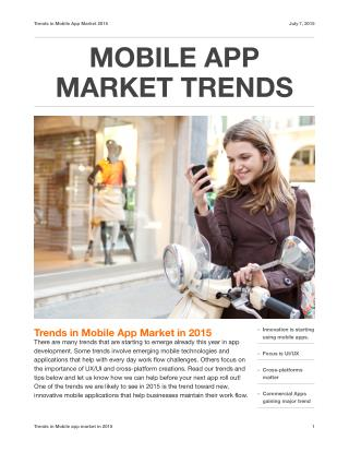 Minneapolis Mobile App Market trends