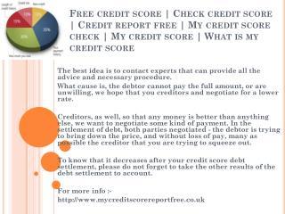 Check credit score | http://www.mycreditscorereportfree.co.uk | Free