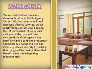 Book Online Domestic Cleaning Services