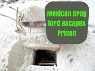 Mexican drug lord escapes prison