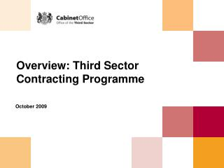 Overview: Third Sector Contracting Programme