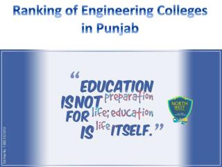 Ranking of Engineering Colleges in Punjab