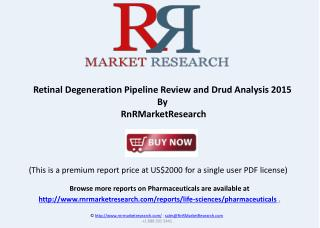 Retinal Degeneration Therapeutic Pipeline Review, H1 2015