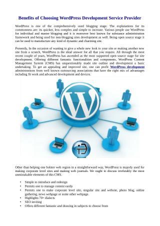 Benefits of Choosing WordPress Development Service Provider