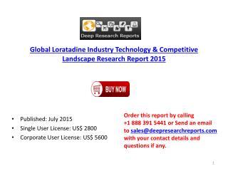2015 Global Loratadine Market Project SWOT Analysis Report