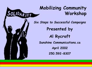 Mobilizing Community Workshop
