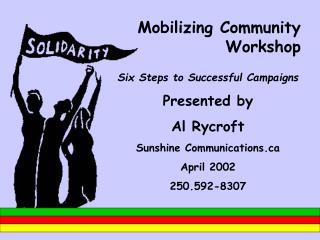 Mobilizing Community Workshop