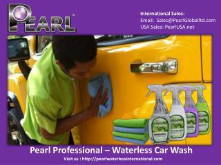 Pearl Professional – Waterless Car Wash