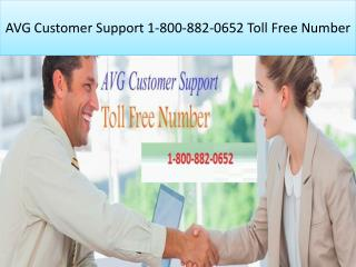 AVG Customer Support 1 800-882-0652 Toll Free Number