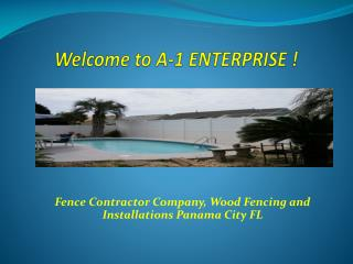 Fence Contractor Company, Wood Fencing and Installations Panama City FL