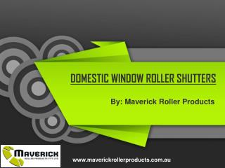 Exterior Roller Shutters for Windows