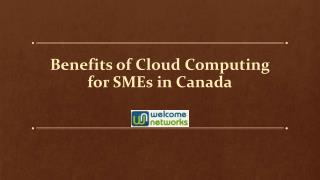 Benefits of Cloud Computing for SMEs in Canada