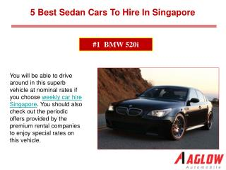 5 Best Sedan Cars to hire in Singapore