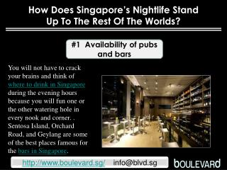 How does Singapore's nightlife stand up to the rest of the worlds?