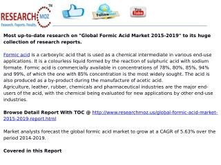 Global Formic Acid Market 2015-2019