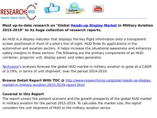 Global Heads-up Display Market in Military Aviation 2015-2019