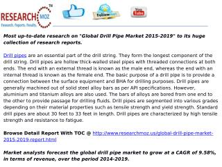 Global Drill Pipe Market 2015-2019
