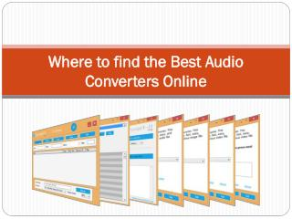 Where to find the Best Audio Converters Online