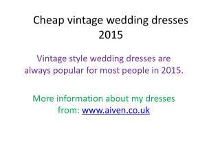 Cheap vintage wedding dresses