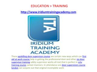 Security training upskilling personal license courses london