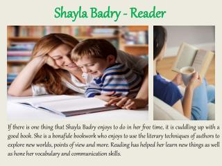Shayla Badry - Reader