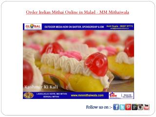 Order Indian Mithai Online in Malad- MM Mithaiwala