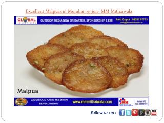 Excellent Malpuas in Mumbai region - MM Mithaiwala