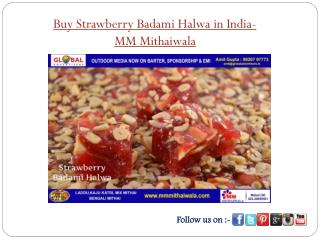 Buy Strawberry Badami Halwa in India - MM Mithaiwala